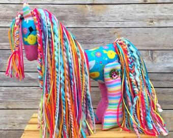 Easter pony - Easter gift - stuffed pony - girl gift - Horse Stuffed Animal - Stuffed Horse - Stuffed Pony - stuffed animal - plush pony