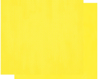 BoBunny LEMONADE DOUBLE DOT 2 Pieces 12x12 Double-sided Heavy Weight Textured Cardstock 12LD784