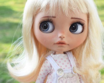 """9-10"""" BEAUTIFUL Blond doll WIG for Blythe and Neo Blythe Custom American Girl"""