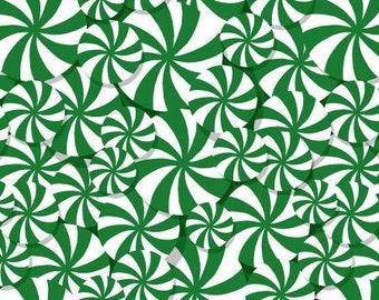 180664 Green Peppermint Allover