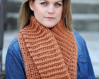 COLLAR Cowl Crochet PATTERN Chunky Bulky Wrap Scarf The ASPEN