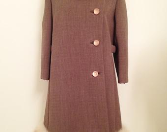 Vintage Wool Fox Trim Coat: Marshall Field & Company
