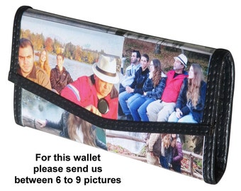 Personalized MEDIUM size snap wallet using pictures from you - FREE SHIPPING - gift gifts for mom girlfriend custom customized wallet clutch