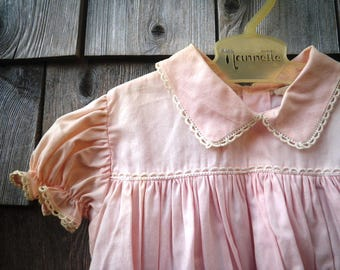 Betti Terrell Baby Girl Pink Dress 1960s - Lord & Taylor Label