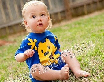 w-u -b-z-y Shortsleeve spring summer romper PAINTED boys Boutique custom painted newborn 3mth 6mth12mth 18mth 24mth
