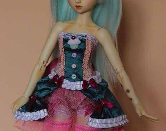 """burlesque cupcake"" outfit size Minifee OOAK"