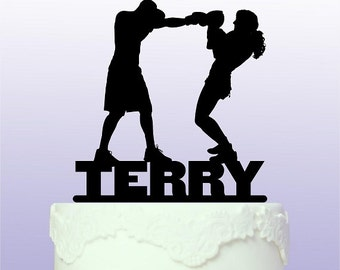 Personalised Boxing Cake Topper