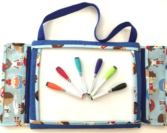 Kids Travel Doodle,  games, drawing, doodling, magnetic white board, dry erase tote,  changeable game board,  art activity
