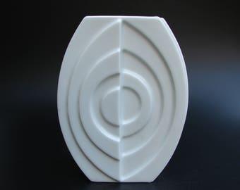 Gerold Op art porcelain vase Space Age Mid Century Modern