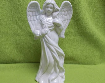 Blue White Angel- glazed ceramics