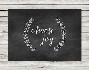 Choose Joy - Printable Wall Art