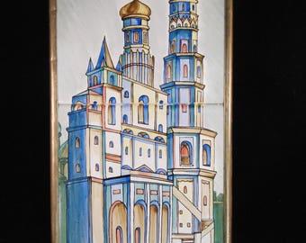 Russian tiles framed