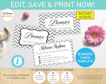 Premier designs card etsy premier designs jewelry business card template printable premier jewelry cards premier jewelry business cards premier designs branding colourmoves