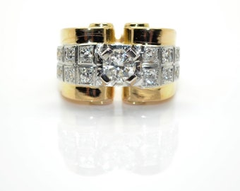 Tank diamonds ring
