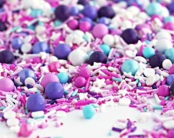 Sweetapolita Sprinkles Medley- Tutu Sweet 4 oz. & 8 oz.   Pink and Purple Sprinkle Mix   Pink Sprinkles   Purple Sprinkles   Princess Party