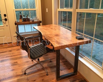 Beautiful Your Custom Desk  Live Edge Desk  Industrial Desk  Rustic Desk  Wooden Desk Design