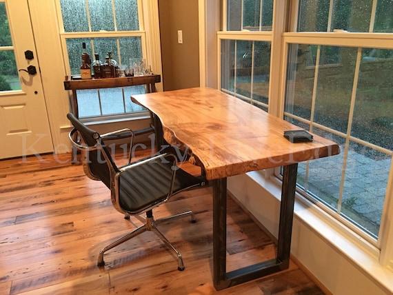 Your Custom Desk Live Edge Desk Industrial Desk Rustic