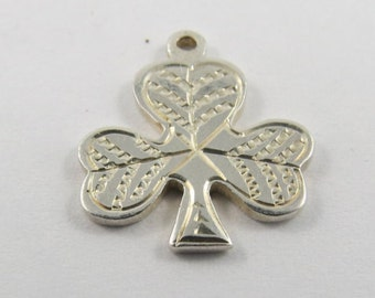 Three Leaf Clover Vintage Sterling Silver Charm.