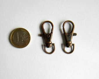 Set of 2 key hooks copper 38 x 17 mm
