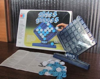 """Vintage 80's """"Slide 5"""" - Milton Bradley - Game Night - Family Games - ages 7 to adult - 80's Board Game - 2 player game - 80's Boardgame"""