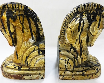 Bookend horses vintage set of two