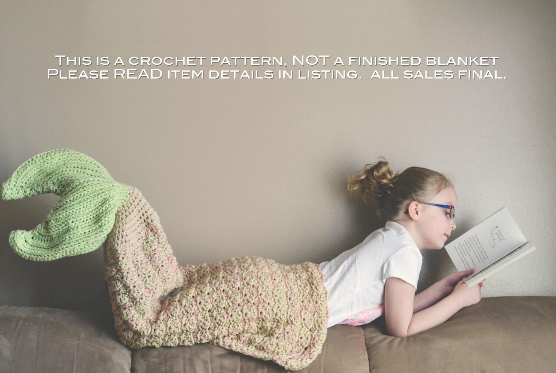 Crochet pattern for mermaid tail blanket diy tutorial to zoom bankloansurffo Choice Image