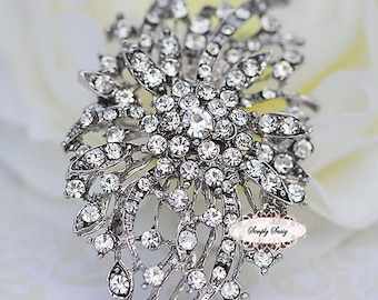 Rhinestone Brooch Pin Supply Brooch Bouquet Jewelry Flatback Hair Invitation Accessories Wedding Bridal Jewelry DIY Supply RD283