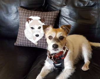Adorable Pet Portrait Pillow Cover