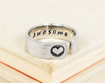 Stay Awesome Ring - Secret Message Ring