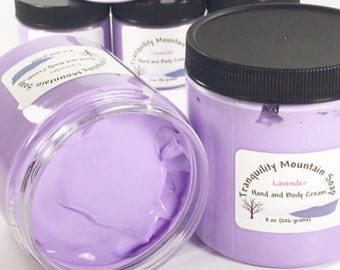 LAVENDER LOTION Hand Cream Body Lotion Hand Lotion Skin Care Shea Butter Moisturizer Bath and Body Birthday Gift For Her 8 oz 4 oz