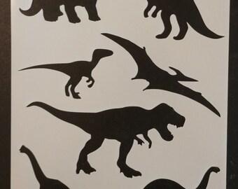 Dinosaur Dinosaurs T Rex Raptor Custom Stencil FAST FREE SHIPPING