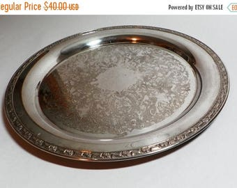 ON SALE Vintage Silver Plate Serving Tray - Oneida