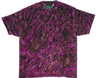 XL Shibori Men's T Deep Purple Tie Dye Mens Shirt