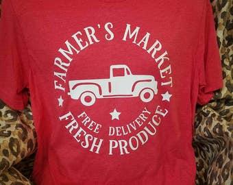 Farmers Market Fresh Produce Super Soft Vintage  Bella Tee