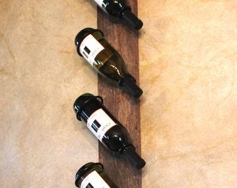 Wine Rack - Rustic Wine Rack - Wine Bottle Holder - Reclaimed Wood - Hanging Wine Rack