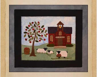 Scool House Whimsy Wool Applique Pattern by North Catolina Quilts