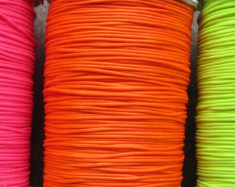 Korean Waxed Polyester Cord Thread Jewellery Making Neon Pink Orange Yellow 1mm Diameter Thong
