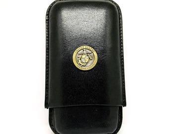 US Marines Cigar Case – 1″ Bronze/Two-Tone