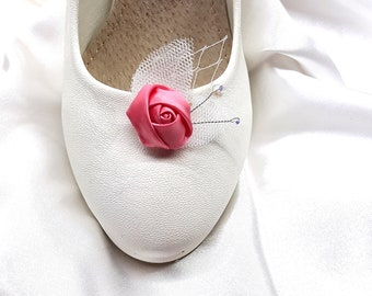 Bridal shoe clips, Fairy roses wedding shoeclips
