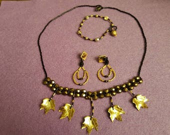 Autumn Gold plated Leaf set
