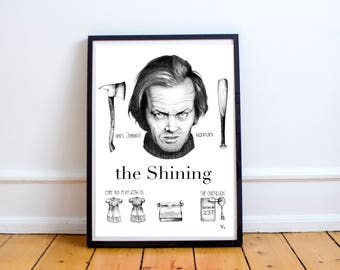 The Shining movie poster Jack Nicholson