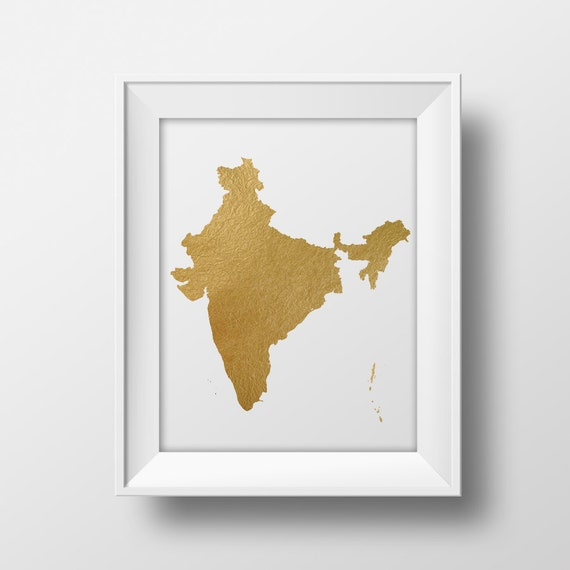 Gold foil india map printable map wall art india map print gold foil india map printable map wall art india map print country map poster printable indian art instant download gold map south east asia sciox Choice Image