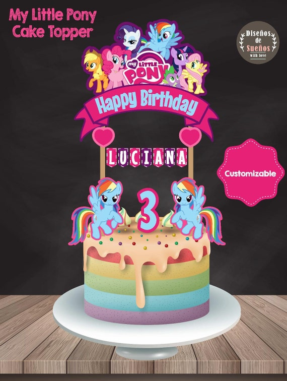 My Little Pony Cake Topper My Little Pony Birthday My Little