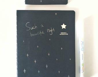 Notebook, mini black Notebook, notebook design and scrapbooking