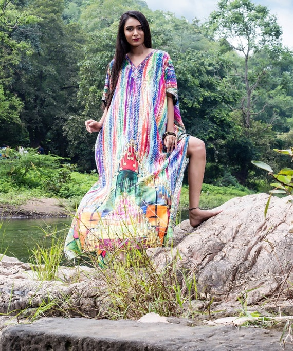 one hand party sale Resort beach hot formal up cover caftan Silk jeweled kaftan luxuries piece kaftan 227 look online made yacht dress on RZ8EqY