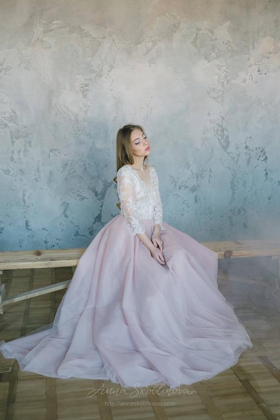 Blush pink wedding dress Pink wedding dress Blush wedding