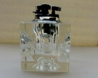 Vintage Crystal Table Cigarette Lighter
