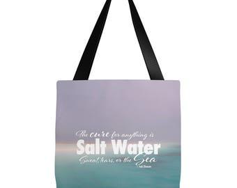 Beach Tote Bag   Sea Quote Tote Bag   Scuba Diver Tote Bag   Scuba Diver Gift   Beach Tote Bag   16 x 16 tote bag, 18 x 18 tote bag