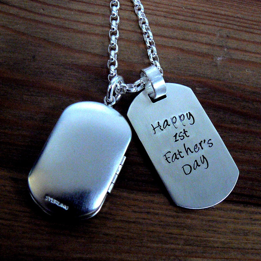 Custom thick sterling silver mens locket and dog tag zoom aloadofball Gallery