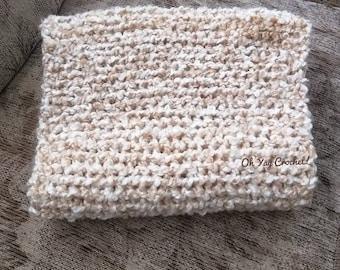 Cream colored Crocheted Cowl